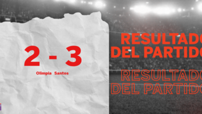 A Olimpia no le alcanzó con el  doblete de Jorge Recalde y cayó frente a Santos