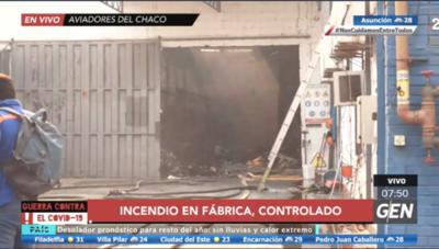 HOY / Controlan incendio en depósito ubicado en la zona de Aviadores del Chaco y Madame Lynch