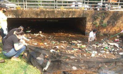 Limpian arroyo Amambay utilizado como vertedero por los puercos