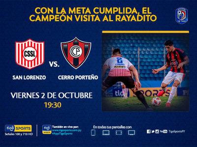 El campeón Cerro Porteño va a la Ciudad Universitaria