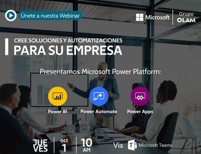 Grupo OLAM y Microsoft presentaron nueva herramienta que permite desarrollar aplicaciones y soluciones de innovación