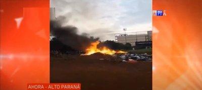 Ciudadano fue multado por quemar basura