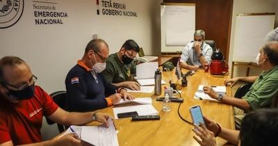 La Nación / Mario Abdo se interiorizó de la situación de incendios con titular de SEN