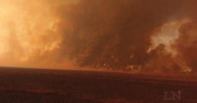 La Nación / Intentó apagar el fuego y quedó rodeado: hallaron su cuerpo calcinado esta mañana