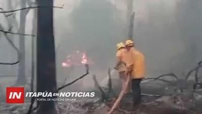 POR RIESGO DE INCENDIOS EVACUAN COMUNIDADES ADYACENTES A LA RESERVA SAN RAFAEL