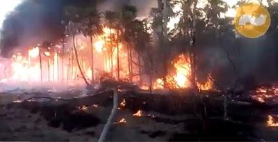 Incendio controlado y sin viviendas quemadas en Atyrá, afirma intendente