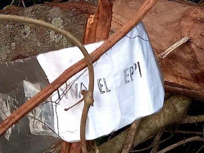 Fiscalía analizará supuesto panfleto del EPP hallado en Azotey
