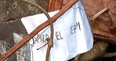 La Nación / Hallan supuesto panfleto del EPP en estancia La Gringa