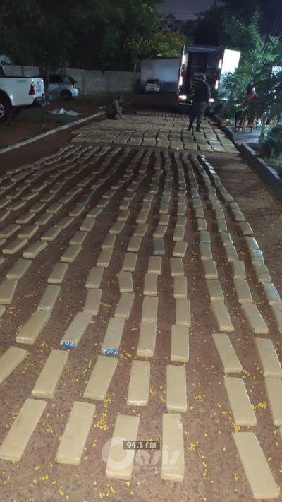 Incautaron alrededor de 1.400 kilos de marihuana en Pedro Juan