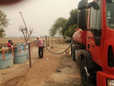 MOPC asiste a zonas afectadas por incendios en el Bajo Chaco