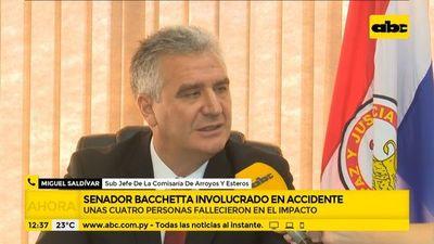 Senador Enrique Bacchetta, involucrado en fatal accidente