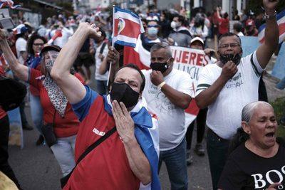 Persisten protestas en Costa Rica contra eventual acuerdo con el FMI
