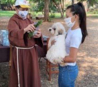 Capuchinos bendicen a mascotas en honor a San Francisco de Asís
