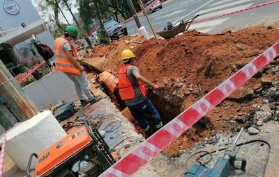 Desde mañana serán interrumpidas calles capitalinas para obras de desagüe cloacal