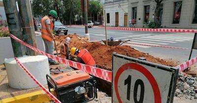 Calles de Asunción serán intervenidas por obras de desagüe cloacal
