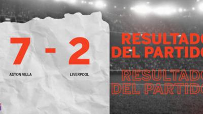 Con triplete de Ollie Watkins, Aston Villa goleó a Liverpool 7 – 2