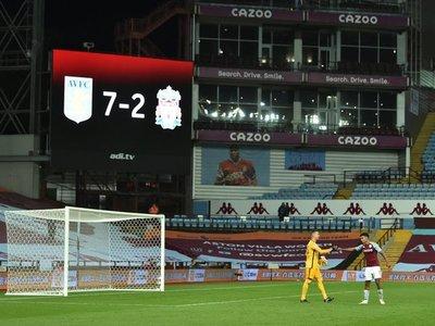 El Aston Villa le hace un histórico 'siete' al Liverpool