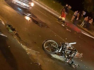 Hohenau: Motociclista pierde la vida en accidente de tránsito