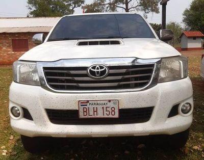 Incautan camioneta que presuntamente fue robada en Brasil