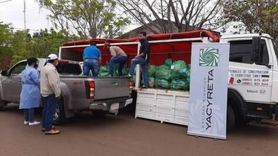 Continúa esta semana entrega de kits de víveres a familias de Itapúa