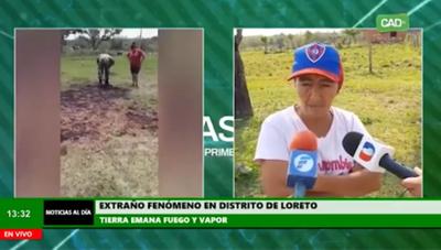 Extraña emanación de humo y fuego de la tierra preocupa a pobladores de Loreto