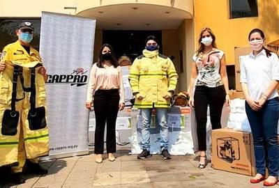 Cappro donó insumos al Cuerpo de Bomberos Voluntarios del Paraguay