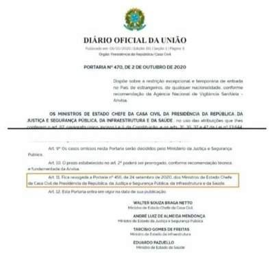 Brasil vuelve a cerrar sus fronteras hasta inicios del mes de noviembre – Diario TNPRESS