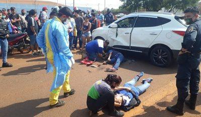 Dos hermanos sufren heridas de gravedad en violento accidente rutero sobre ruta 02 – Diario TNPRESS