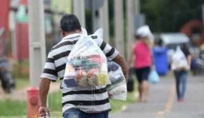 Pytyvõ Escolar: plantean cambiar kit de alimentos por dinero a familias