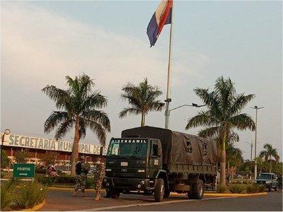 Militares cierran frontera con Brasil en el Departamento de Amambay