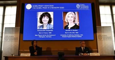 La Nación / Dos mujeres genetistas de Francia y EEUU ganan el Nobel de Química