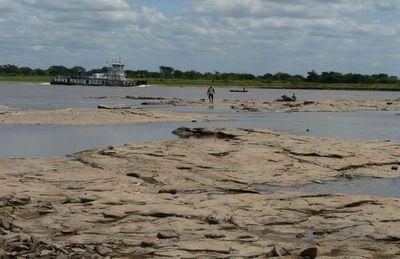 Bajante del Río Paraguay a solo 8 centímetros de alcanzar registro histórico