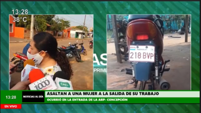Concepción: Asaltan a una mujer a la salida de su trabajo