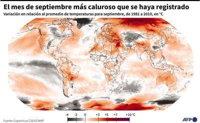 Septiembre, el mes más caluroso