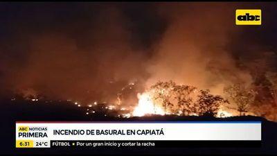 Basural se incendió en Capiatá