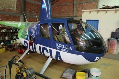 Ministro de Seguridad de Buenos Aires niega que helicóptero hallado en Areguá les pertenezca