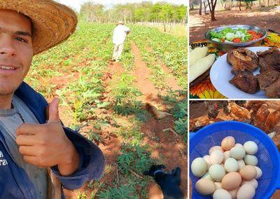 ¡Cocina, animales y naturaleza! Joven del interior muestra su día a día en el campo y es sensación en redes