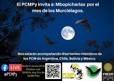 """Invitan a las """"mbopicharlas"""" por el mes de los murciélagos"""
