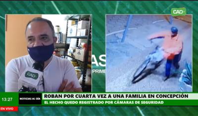 Por cuarta vez robaron a una familia en Concepción