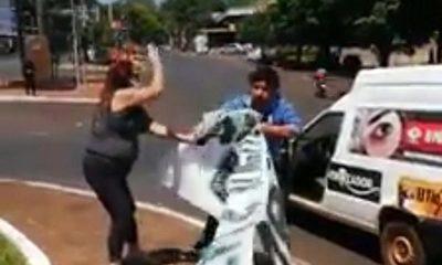 Kelembú quiso defender a sus jefes mafiosos y casi fue linchado por manifestantes