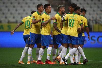 Con alto nivel Brasil se luce y arrolla a Bolivia
