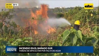 Nuevo incendio en el bañado Tacumbú