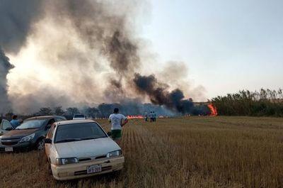 Reportan dos incendios de gran magnitud en Alto Paraná