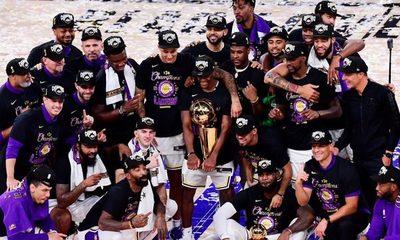 Los Angeles Lakers celebran su decimoséptimo anillo de la NBA recordando a Kobe Bryant