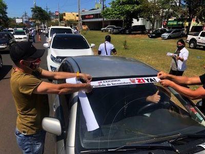 CDE:Caravana de manifestantes pidió este domingo por la pérdida de investidura de Zacarías Irún