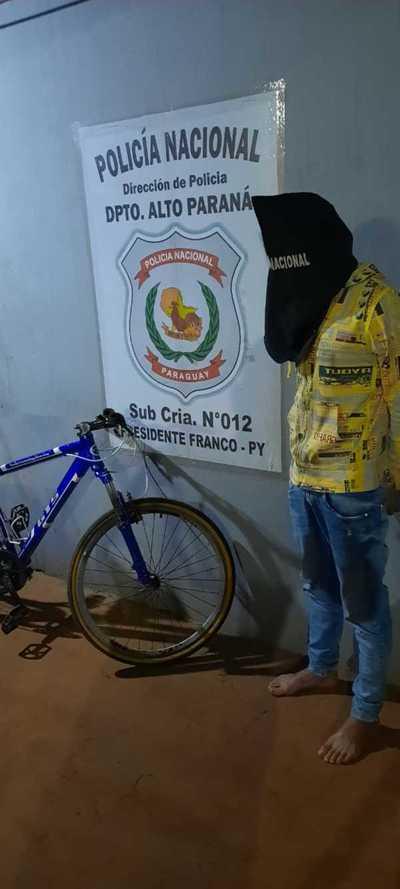Atrapado cuando pretendía vender una bicicleta que acababa de robar
