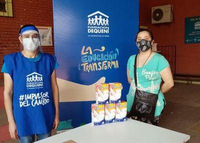 Tetra Pak donó 661 litros de leche a proyectos de la Fundación Dequení