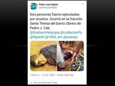 Sicarios ejecutan a tiros a dos menores en Santa Teresa