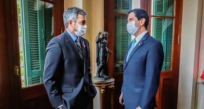 Mario Abdo confirma a Federico González como nuevo canciller nacional