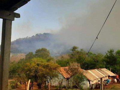 Reportan nuevo incendio en la Cordillera del Ybytyruzú